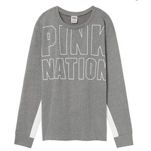 Victoria's Secret Pink nation SIZE L clay GRAY